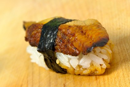 Unagi, or fresh water eel sushi.