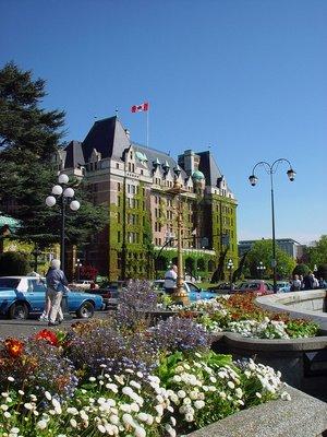 The Empress Hotel in Victoria.