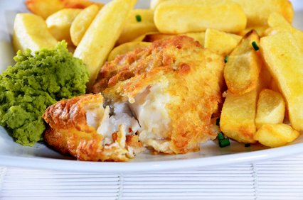 Healthy beer battered fish.