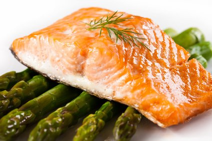 Salmon helps fight inflammation and Alzheimer's Disease.