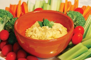 Hummus for healthy dipping.