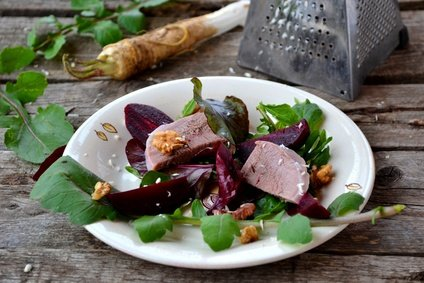 Like adding citrus zest grated horseradish added to a green salad can liven up the taste.