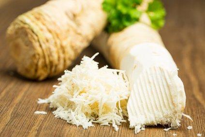 Grated horseradish.