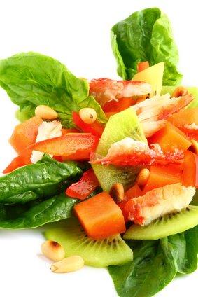 Kiwi crab salad.