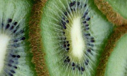 Sliced kiwi.