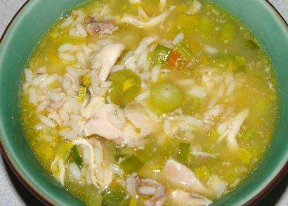 Cock-a-leeky soup.
