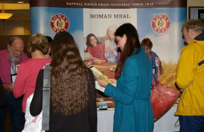 The Roman Meal booth at the conference.