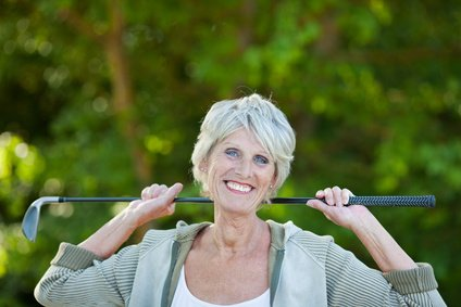 Golf and exercise for seniors.