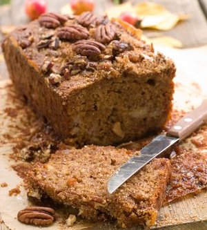 Healthy nut bread made with a little walnut oil.