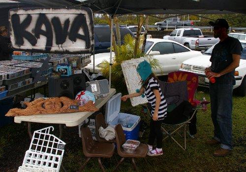 Kava Bar at the farmers market.