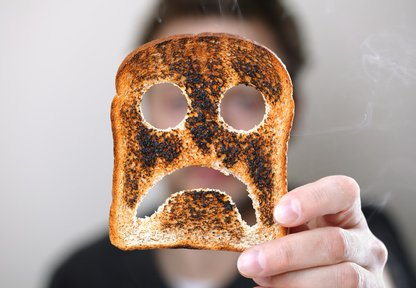 Unhappy with my toast.