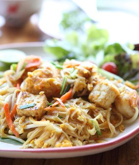 Tofu and pork Pad Thai.