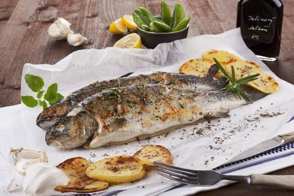 Grilled trout with omega-3 and omega-6 fatty acids.